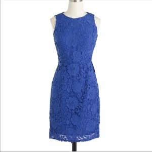 J. Crew Blue Lace Sheath Dress - Like New!